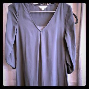 Short sheer Flowing dress with built in slip